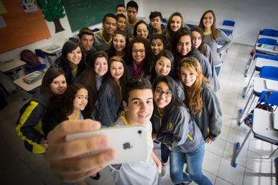 alunos de escola pública