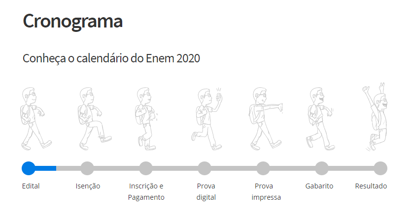 cronograma enem 2020