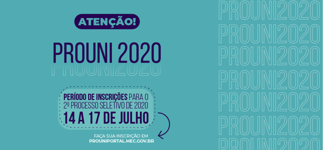 prouni 2020.2 inscrições